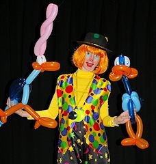 Sculpture sur ballons